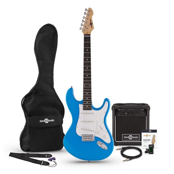 LA Electric Guitar + Amp Pack Blue 5060166244002 001EBLUAMP