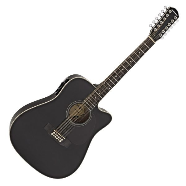 Dreadnought 12 String Electro Acoustic Guitar by G4M Black Nearly New 5055888812295 DN-212BK-BSTOCK