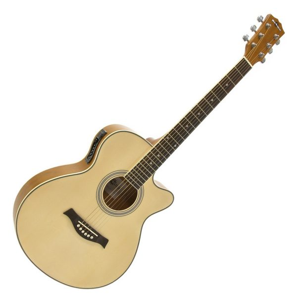 Single Cutaway Electro Acoustic Guitar by Gear4music - Nearly New 5060166240790 SC-100NT-NEARLYNEW