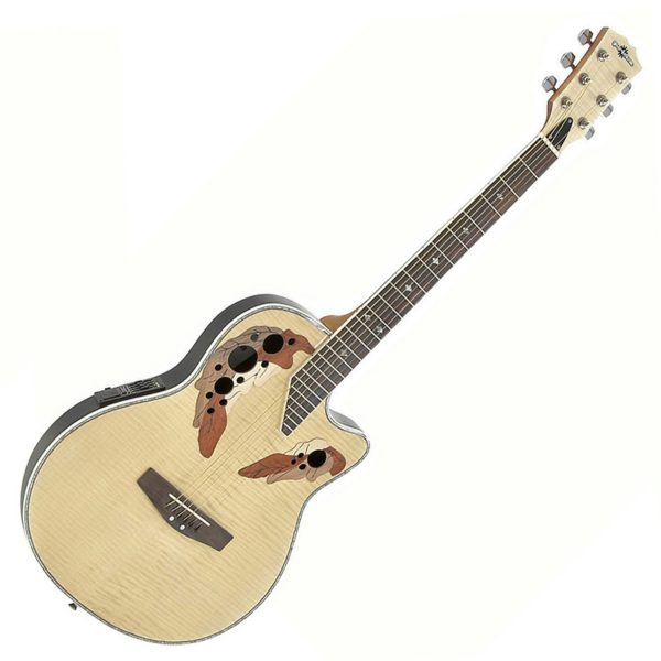 Deluxe Roundback Acoustic Guitar Flamed Maple - Nearly New 5060218384984 RB-230FM-NEARLYNEW