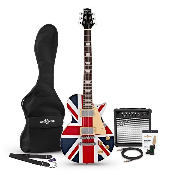 New Jersey Electric Guitar + 15W Amp Pack Pack Union Jack 5055888802401 012EUJ-PACK