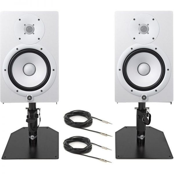 Yamaha HS8 Active Monitors with Free Desktop Stands & Cables White CHS8WUK-FREESTANDS090121 4957812558068