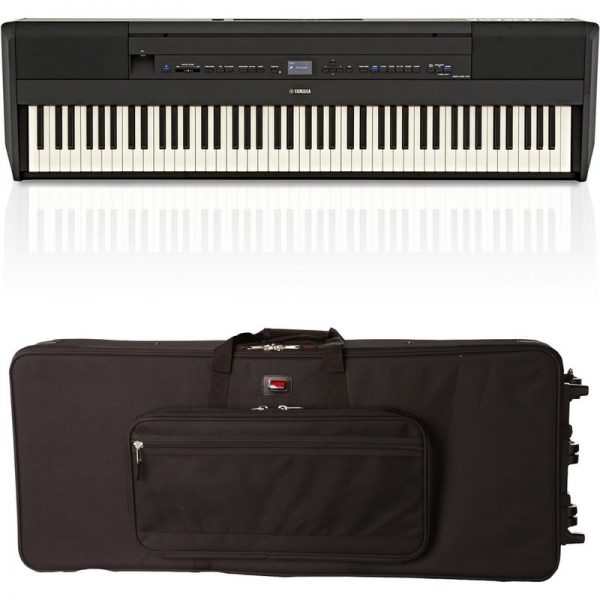 Yamaha P515 Digital Piano Black Gator Case Bundle NP515BUK-GATOR090121 4957812629683
