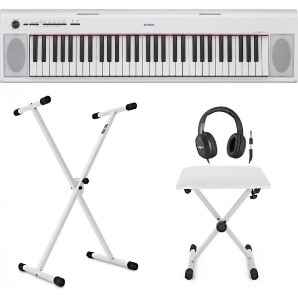 Yamaha Piaggero NP12 Portable Digital Piano X Frame Package White SNP12WHUK-PACK090121 4957812593953