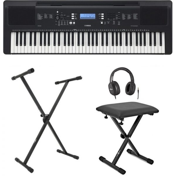 Yamaha PSR EW310 Portable Keyboard with Stand Bench and Headphones SPSREW310UK-XKEYS090121 4957812659635