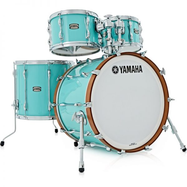 "Yamaha Recording Custom 22"" 4 Piece Shell Pack Surf Green JRBROCKSFG090121 86792349794"