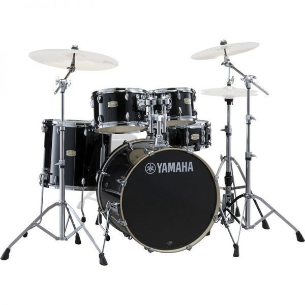 "Yamaha Stage Custom 20"" 5 Piece Shell Pack w/ Hardware Raven Black JSBP0F5RB+HW680W090121 4957812547451"