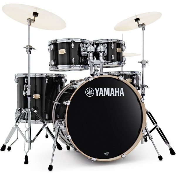 Yamaha Stage Custom 22 5 Piece Shell Pack w/ Hardware Raven Black JSBP2F5RB+HW680W090121 4957812547406