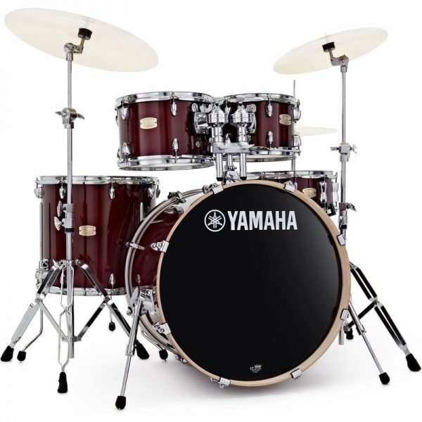 "Yamaha Stage Custom 22"" 5 Piece Shell Pack w/ Hardware Cranberry Red JSBP2F5CR+HW680W090121 4957812547413"