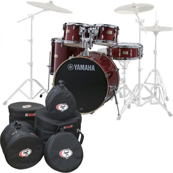 Yamaha Stage Custom Birch 22 5pc Shell Pack w/Bags Cranberry Red JSBP2F5CR-BGS090121 4957812547413
