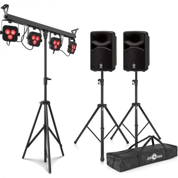 Yamaha Stagepas 400BT Portable PA System with Chauvet 4Bar LTBT CSTAGEPAS400BUK-LIGHT090121 4957812624596
