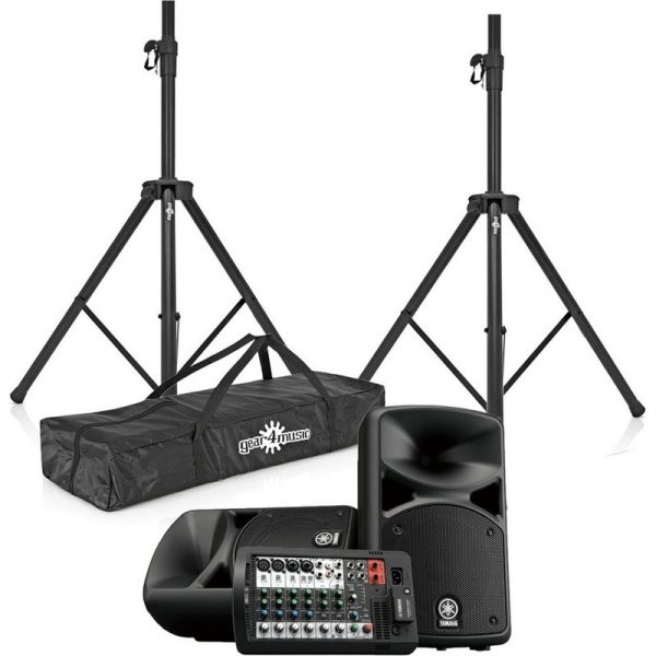 Yamaha Stagepas 400BT Portable PA System with Speaker Stands CSTAGEPAS400BUK-BUNDLE090121 4957812624589