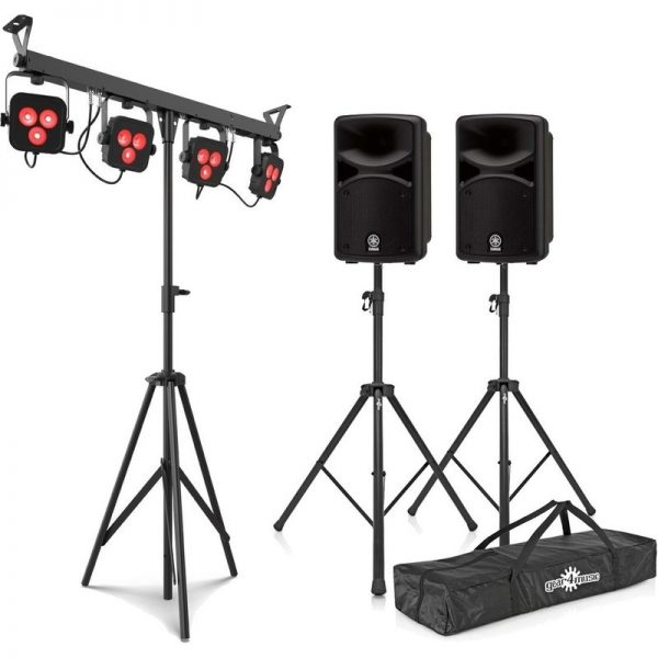 Yamaha Stagepas 600BT Portable PA System with Chauvet 4Bar LTBT CSTAGEPAS600BUK-LIGHT090121 4957812624671