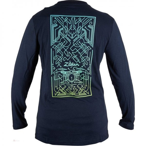 Zildjian Art Deco Long Sleeve T-Shirt Small T3461090121 642388324196