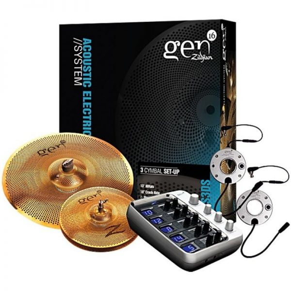 Zildjian G16BS3DS Gen16 Buffed Bronze 2 Cymbal Set with Processor G16BS3DS090121 642388311097