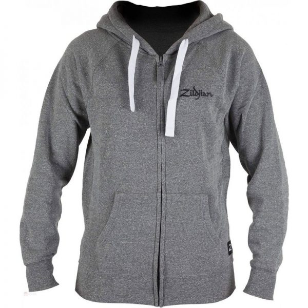 Zildjian Gray Zip-Up Hoodie Small T3421090121 642388324004