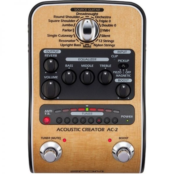 Zoom Ac-2 Acoustic Creator Pedal ZAC2090121 4515260017775