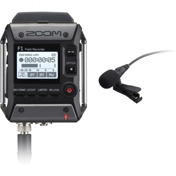 Zoom F1-LP Field Recorder with Lavalier Microphone ZRCF1-LP090121 4515260018789