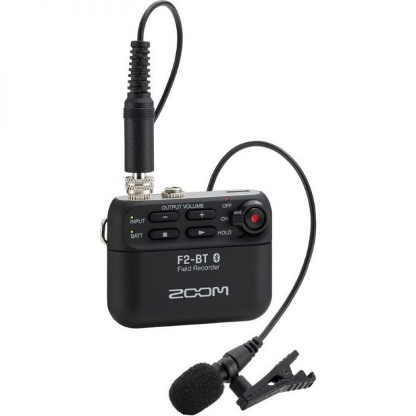 Zoom F2-BT Field Recorder with Bluetooth and Lavalier Mic 10007401090121 4515260024223