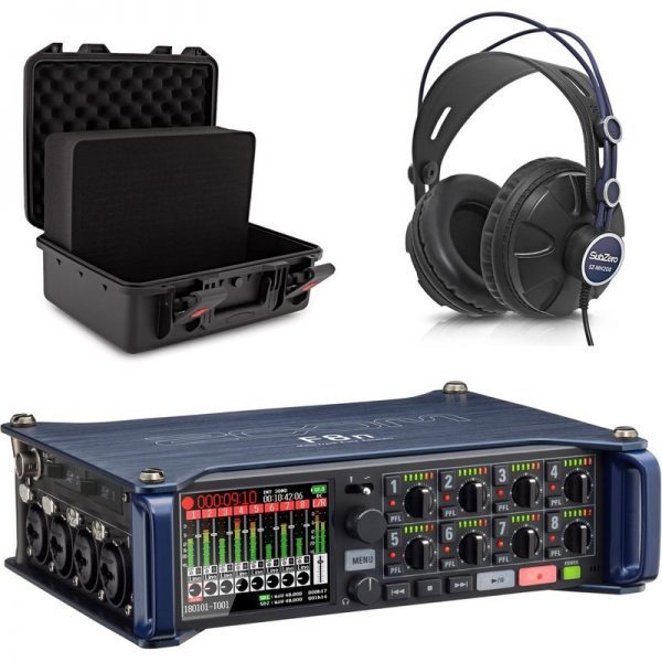 Zoom F8N MultiTrack Field Recorder with Case and Headphones ZOOM-F8N-ABS-UNICASE-M090121 884354019037