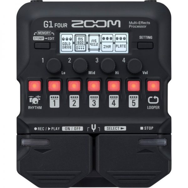 Zoom G1 FOUR Multi-Effects Pedal G1 FOUR090121 4515260020232