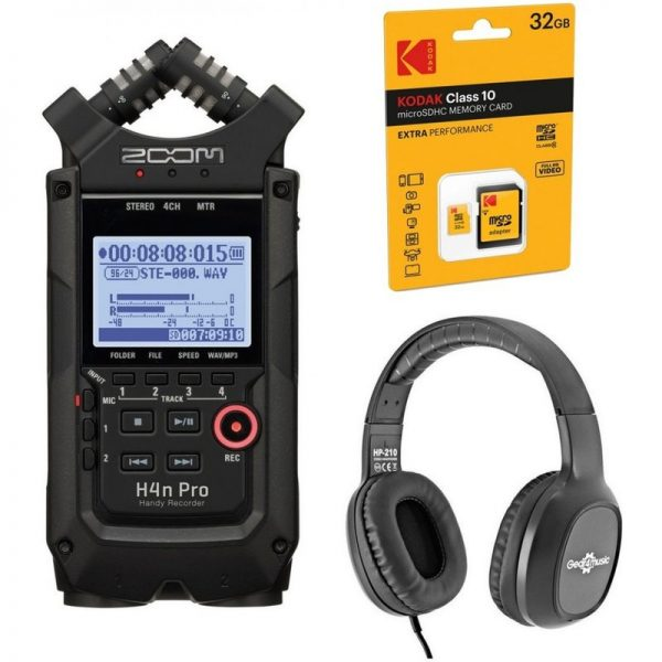 Zoom H4n Pro Recording Bundle Black H4nPRO Black-RECORDING090121 4515260021512