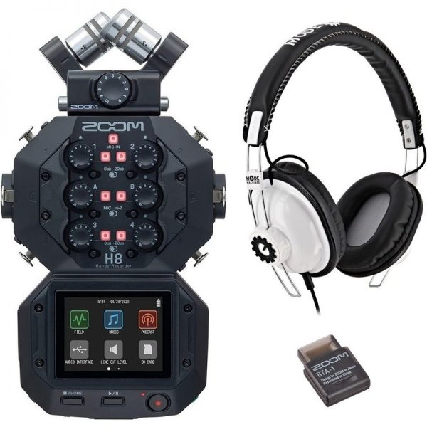 Zoom H8 Recorder with RP-1 Headphones and BTA-1 Bluetooth Adaptor ZOOMH8-RP-1090121 4515260023073