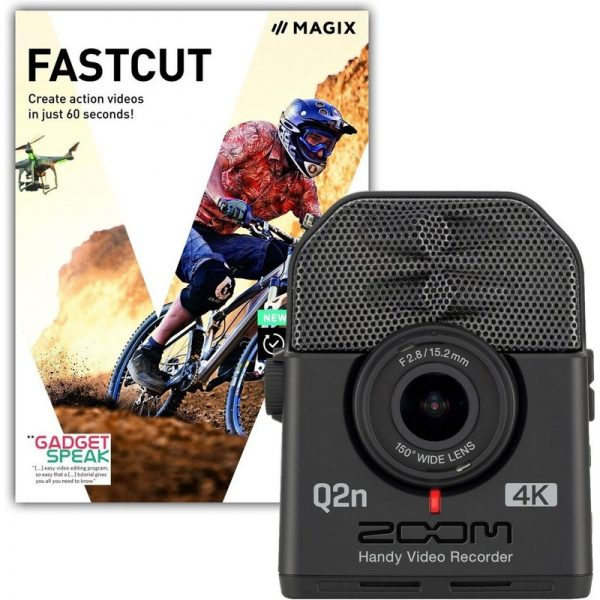 Zoom Q2n-4k Camera for Musicians & Fastcut Video Editing Software Q2N4K-FASTCUT090121 4515260020133